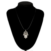 Doinshop New Nice Cute Lovely Hand of Fatima Pendant Necklace Choker Chains Charm Black Leather Cord