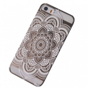 ABC(TM) 2015, Henna Full Mandala Floral Dream Catcher/Elephant Hindu Ganesh Case Cover for iPhone 5 5S