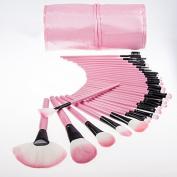 32 pcs Professional Cosmetic Makeup Brush Set With Pink Bag