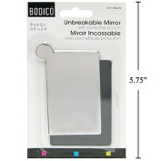 Unbreakable Cosmetic Mirror with Pouch