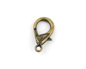 150 PCS Jewellery Making Charms JO077 Lobster Clasps Ancient Bronze Retro Findings Bulk