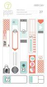 American Crafts Amelia 3 Sheets Decorative Washi Tape Stickers
