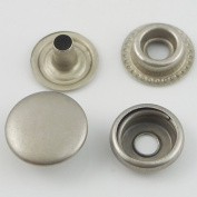 """Bluemoona 100 Sets - 12mm 1/2"""" Metal Snap Fastener Leather Rapid Rivet Button Sewing"""