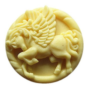 Lingmoldshop Fly Horse C157 Craft Art Silicone Soap mould DIY Candy mould Craft Moulds Handmade Candle moulds