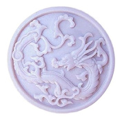 Lingmoldshop LUCKY DRAGON Craft Art Silicone Soap mould DIY Candy mould Craft Moulds Handmade Candle moulds