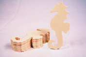 Creative Hobbies® Unfinished Wood Seahorse Cutout Shapes, Ready to Paint or Decorate, 13cm Wide, Pack of 12