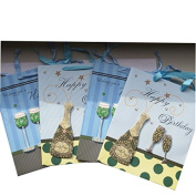 Happy Birthday - Quality Gift Bags - Pack of 4