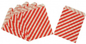 Paper Treat Bag- Diagonally Striped Red Goodie Bags 5x7