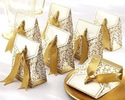 Patty 50 Gold Gift Boxes Candy Favour Box Wedding Decoration Party Decoration New Craft Decoration Thanksgiving Gifts Christmas Gifts