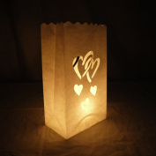 Double Heart Paper Luminaries Bag