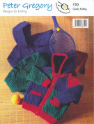 Peter Gregory Childrens Chunky Knitting Pattern - Crew Neck Jacket & Cardigan with Hood