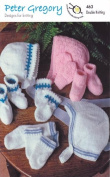Peter Gregory DK Double Knitting Pattern - 463 Baby Accessories