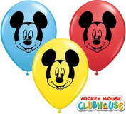 Mickey Mouse Face Assorted 13cm Qualatex Latex Balloons x 10