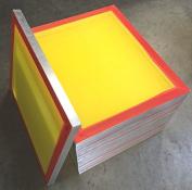 12-pack 50cm x 60cm Aluminium Silk Screen Printing Frames 250 tpi Yellow Mesh