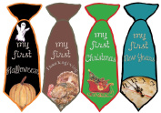 Mumsy Goose Baby Boy 1st Holidays Stickers Little Man Ties