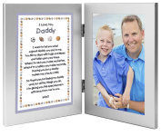 Sports Themed Father's Day Gift From Son - Sweet Poem to Daddy From Boy - Add Photo to Double Frame