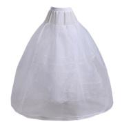 Eyekepper None Hoop A-Line Bridal Gown 4 Layers Crinoline Petticoat Slip
