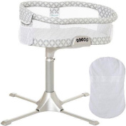 Halo - Swivel Sleeper Bassinet Premiere Series with 100 Cotton Fitted Sheet - Harmony Circles