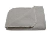 LANACare Organic Merino Wool Toddler Blanket, Soft Grey