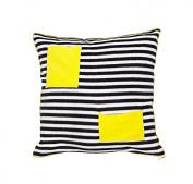 Hej Kid's Head Rest, Stripes, One Size, Black/ White