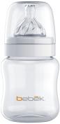 Bebek Classic Bottle 150ml with Senseflo Silicone Nipple, Clear, 5 Ounce