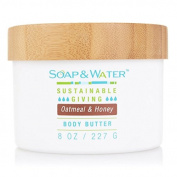 Soap & Water Luxurious Moisturising Body Butter - All Natural - No animal testing - Free of Parabens, Phtalates, Sulphate, Preservatives & Artificial Dyes ~Made with Organic Ingredients ~ Eco-friendly ~ Made in the USA ~ 240ml