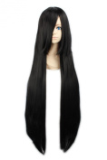 "LOUISE MAELYS 39"" 100cm Wig Black Long Straight Anime Cosplay Hair Halloween Costume"