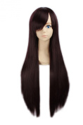 """LOUISE MAELYS 31"""" 80cm Brown Long Straight Anime Hair Cosplay Costume Party Full Wigs"""