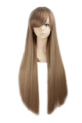 """LOUISE MAELYS 31"""" 80cm Blonde Brown Long Straight Anime Hair Cosplay Costume Party Full Wigs"""