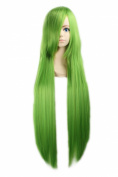 "LOUISE MAELYS 39"" 100cm Wig Green Long Straight Anime Cosplay Hair Halloween Costume"