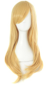 MapofBeauty 65cm Girls Long Anime Straight Cosplay Wig Party Wig