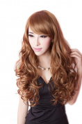 60cm Long Wavy Cosplay Women Girl Costumes Hair Full Wigs