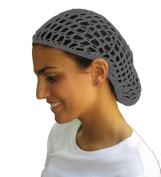 Grey Hair Net - Snood - Crochet Hair Net Snood In Grey