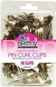 Single Prong Professional Salon Pin Curl Clips - 80 Clips