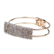 ZPS Fashion Lady Elegant Bangle Wristband Bracelet Crystal Cuff Bling Gift