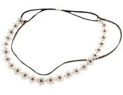 BONAMART ® Women Vintage Double Layer Flower Elastic Headband Hair Band