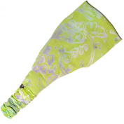 Bali jungle print rayon yoga fitness headband-Lime-One size