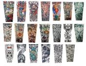 Efivs Arts Xt Series Classic Temporary Fake Tattoo Arm Sleeves Leg Stockings Accessories for Men Women 10 Pcs