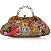 Women's Classic Fashion Handbag Beaded Bag Vintage Party Bag_9994