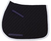 TuffRider Basic All Purpose Saddle Pad w/Trim And Piping - Light Blue/Navy/ White