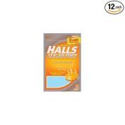 Halls Mentho-Lyptus Sugar Free Drops, Honey-Lemon, 25-Count Bags