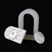 Plaster Mode 3pcs Quadrant Dental Lab Magnetic Silicone Plaster Model Former Base Moulds