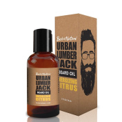 Urban Lumberjack Beard Oil & Conditioner, Energising Citrus, All-Natural 60ml