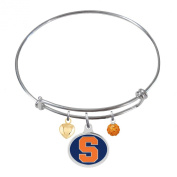 Syracuse Orange Adjustable Bangle Bracelet with Enamel Charm
