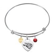 Western State Colorado Mountaineers Adjustable Bangle Bracelet with Heart Charm