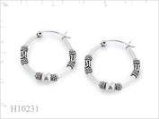 WithLoveSilver 925 Sterling Silver 2x24 mm Teeny Bali Hoop Earrings