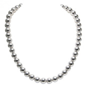 OWC Sterling Silver 10MM Bead Necklace