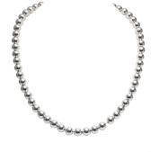 OWC Sterling Silver 8mm Bead Necklace