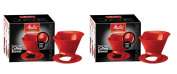 Melitta 64008 2 Pack Single Cup Coffee Brewers, Red