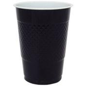 530ml Black Plastic Cups - 100 Pk